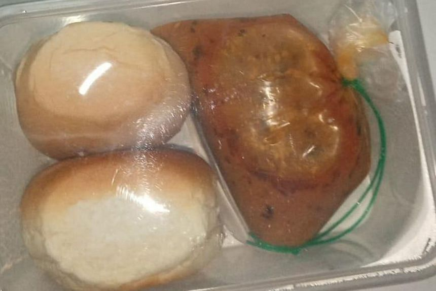 Some of the meals and snacks provided for workers in purpose-built dormitories this week after initial issues surfaced with the quality and quantity of the food provided.