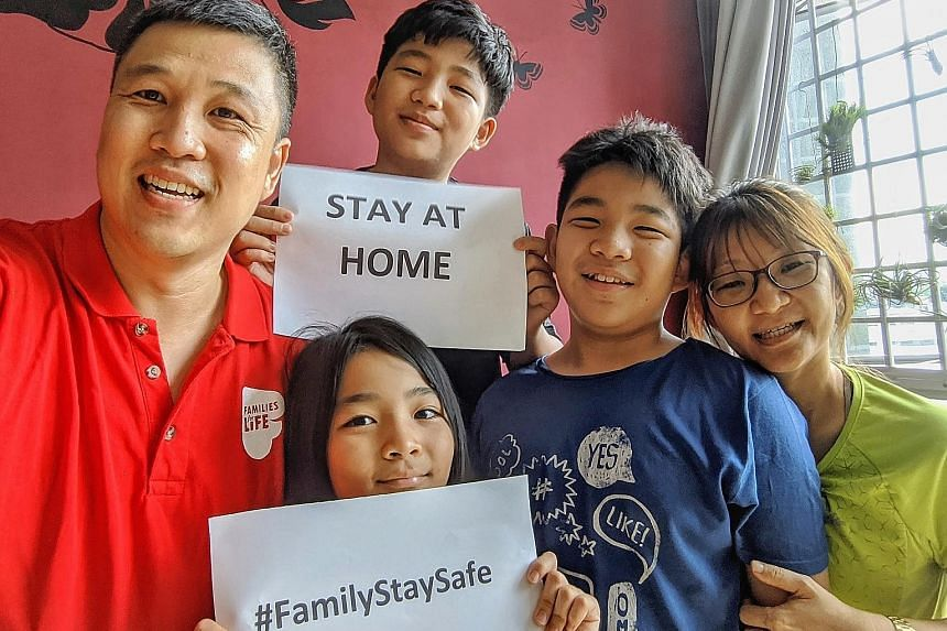 Mr Kelvin Ang (above) of Cheekiemonkies blog with his wife, Susan, and their children – (from top) Ashton, 15; Ayden, 13; and Alethea, nine. He believes in empowering his children to plan their school holiday schedules and make small decisions, such as wh