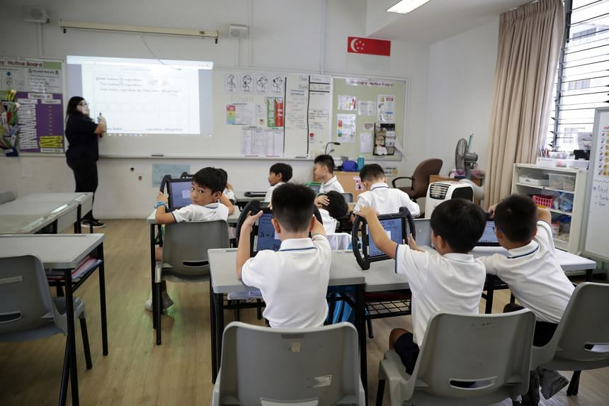 During the full home-based learning period, teachers have provided customised materials for students.