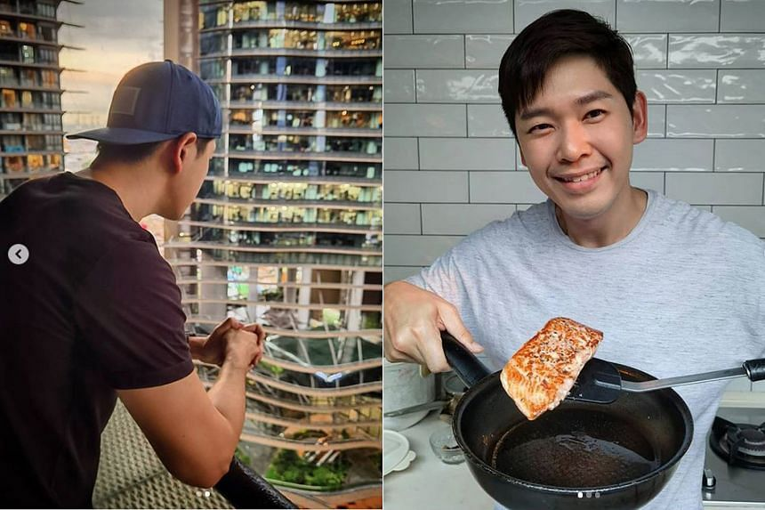 Singapore actor Romeo Tan plans to hold a housewarming party when the circuit breaker period ends.