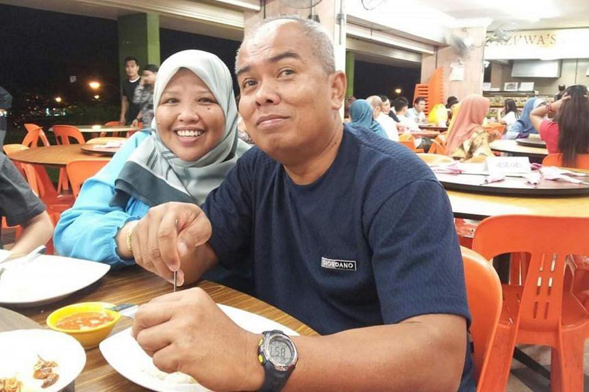 Ms Salha Mesbee and her husband Ali Buang.