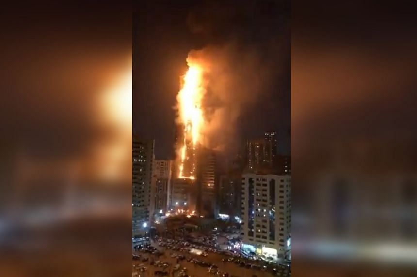 Seven injured in 48-storey fire in UAE