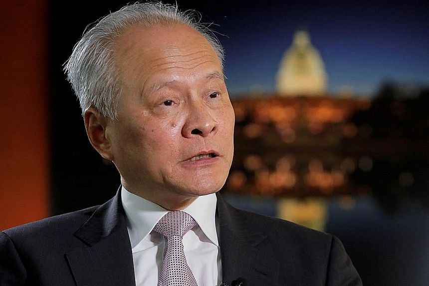 Mr Cui Tiankai issued a call to rebuild trust between the US and China. PHOTO: REUTERS