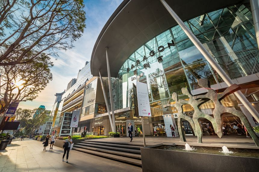 SPH Reit's properties comprises Paragon (above), The Clementi Mall and The Rail Mall.