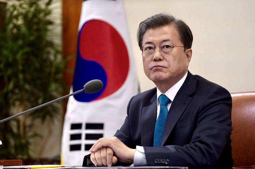 South Korean president Moon Jae-in's approval rating hit 71 per cent.