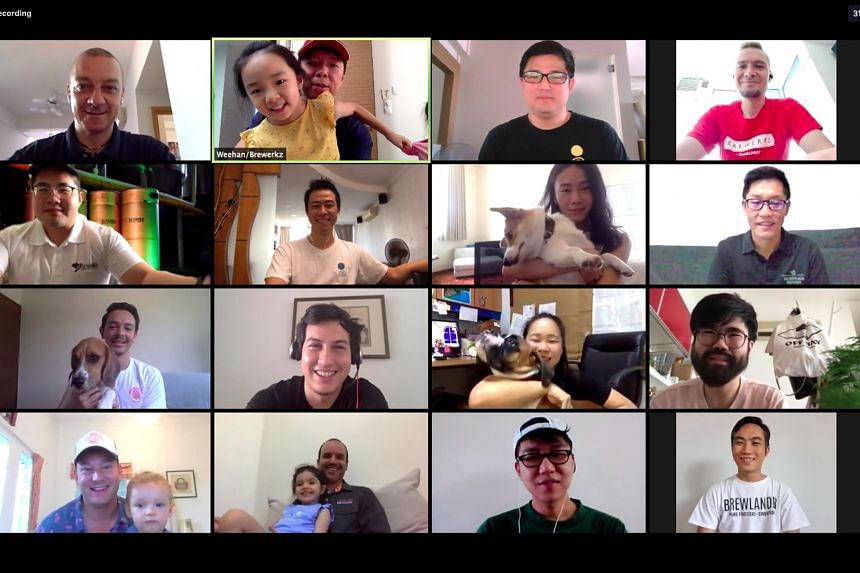 Craft beer brewers on a Zoom call. Fifteen home-grown breweries have come together to sell an assortment pack of local beers.
