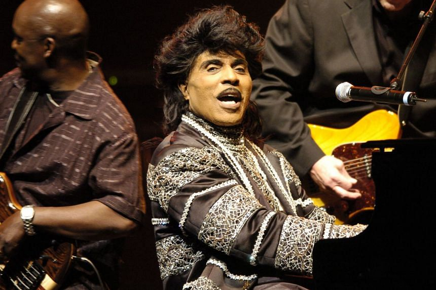 A 2005 photo shows Little Richard performingl in Paris.