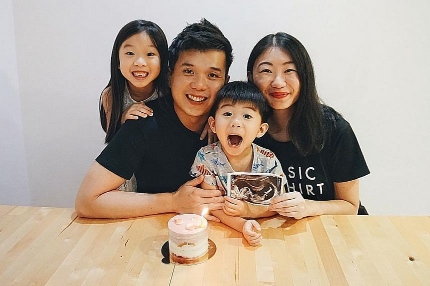 The Xie family is grateful to be reunited again after Mr Xie Jiahao was cleared of Covid-19 last Wednesday. Ms Jayme Tan, who is 14 weeks pregnant, had to hold the fort at home, caring for Zoe and Coen.