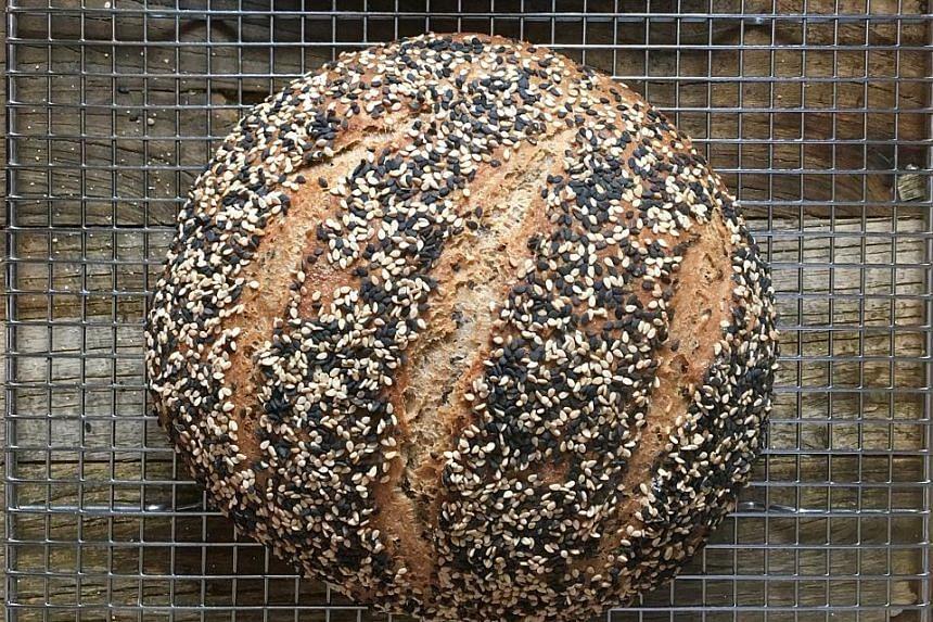 Floating sesame loaf from cookbook author Maria Speck.