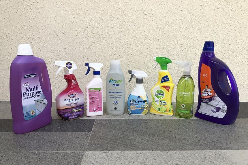 Multi-purpose cleaners that were used in The Sunday Times' test.