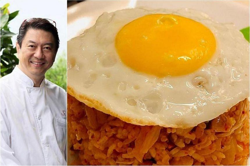 Eric Teo's kimchi fried rice.
