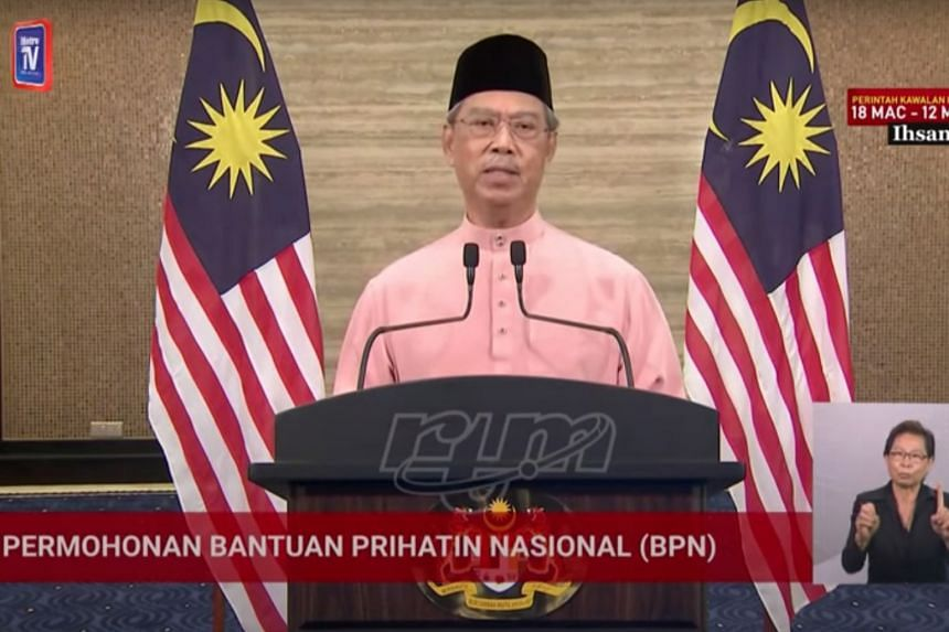 MALAYSIAN PRIME MINISTER MUHYIDDIN YASSIN (above), in a live broadcast.