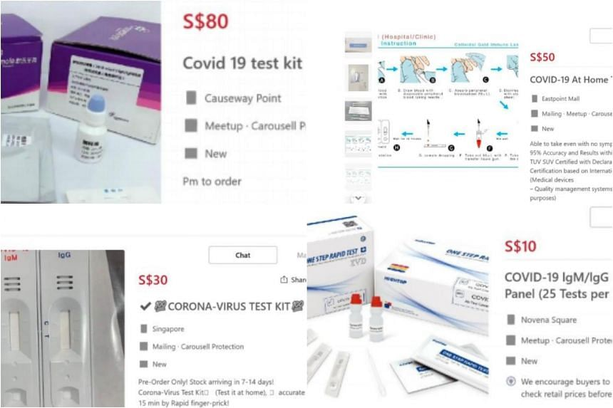 HSA removed more than 40 listings of unapproved Covid-19 test kits, which it said were all imported.