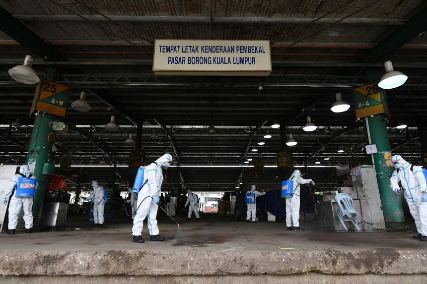 The Kuala Lumpur Wholesale Market has been under total lockdown due to a high infection rate.