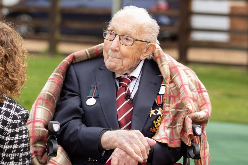 Captain Tom Moore became a national hero after raising more than US$40 million (S$56.6 million) for Britain's health service.