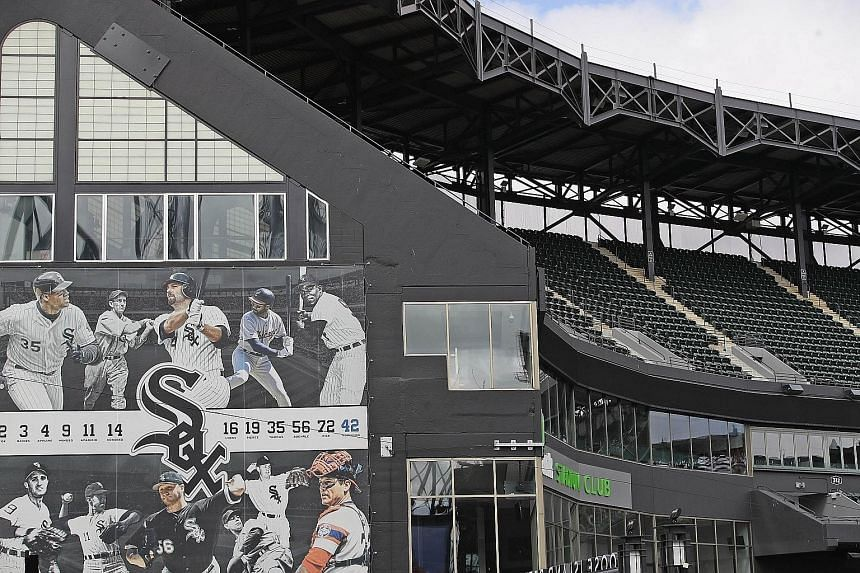The stands of the Chicago White Sox home stadium will be empty when the Major League Baseball season resumes in July. PHOTO: AGENCE FRANCE-PRESSE