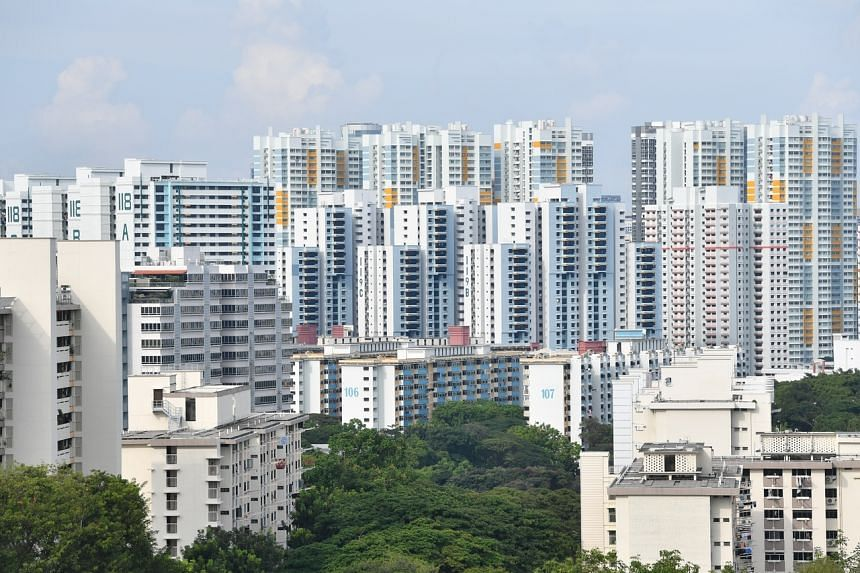 HDB rental volumes in April were also down by 41.3 per cent from a year ago.