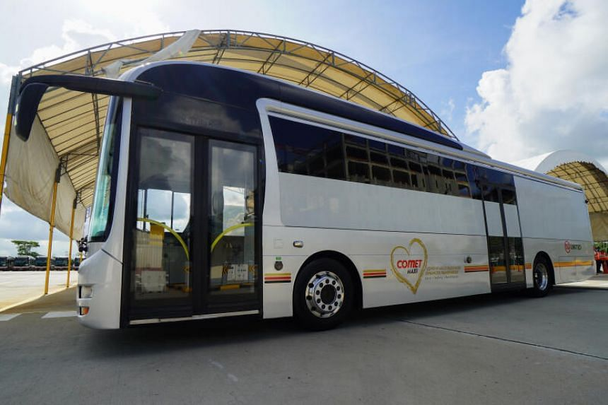 SMRT worked with a few other organisations to modify 20 buses to specially transfer Covid-19 patients.