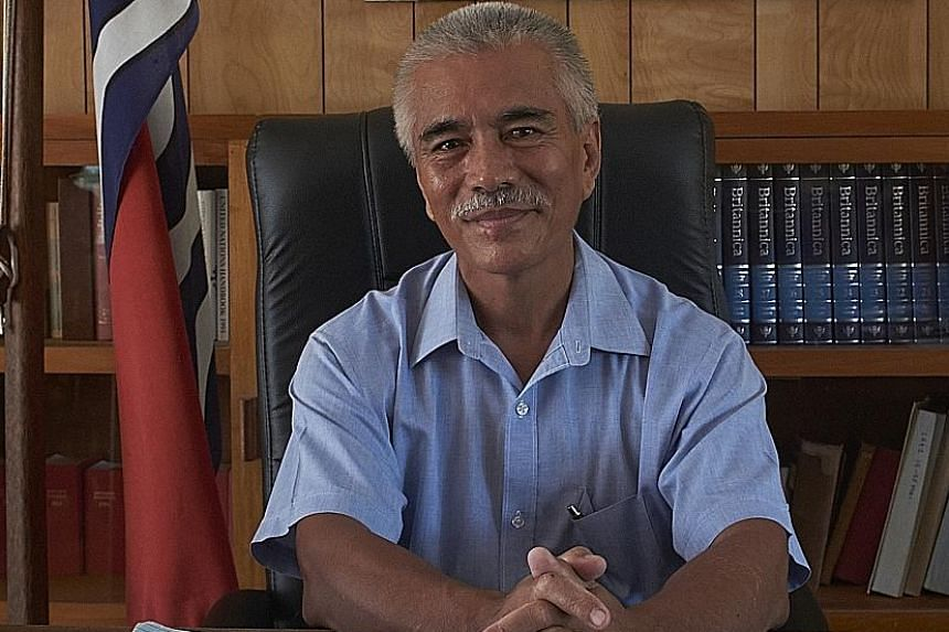 Anote's Ark follows Kiribati's former president Anote Tong (above) on his quest to fight for climate-change solutions. The low-lying nation in the central Pacific Ocean is threatened by rising sea levels caused by global warming.