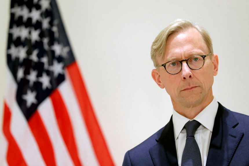 US special envoy for Iran Brian Hook attends a news conference in London on June 28, 2019.