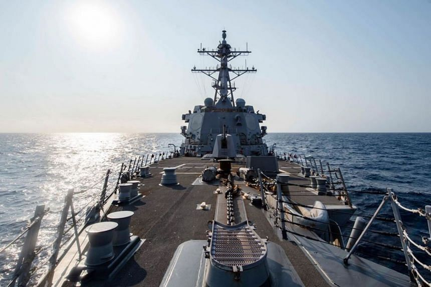 The US Pacific Fleet said the USS McCampbell had transited the narrow strait that separates Taiwan from mainland China.