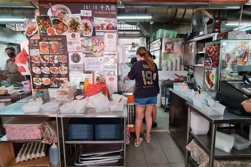 Mr Alex Ng, director of Soi 19 Thai Wanton Mee, said some of its six outlets would run out of plastic containers about two days a week and had to resort to packing the food orders in plastic bags.
