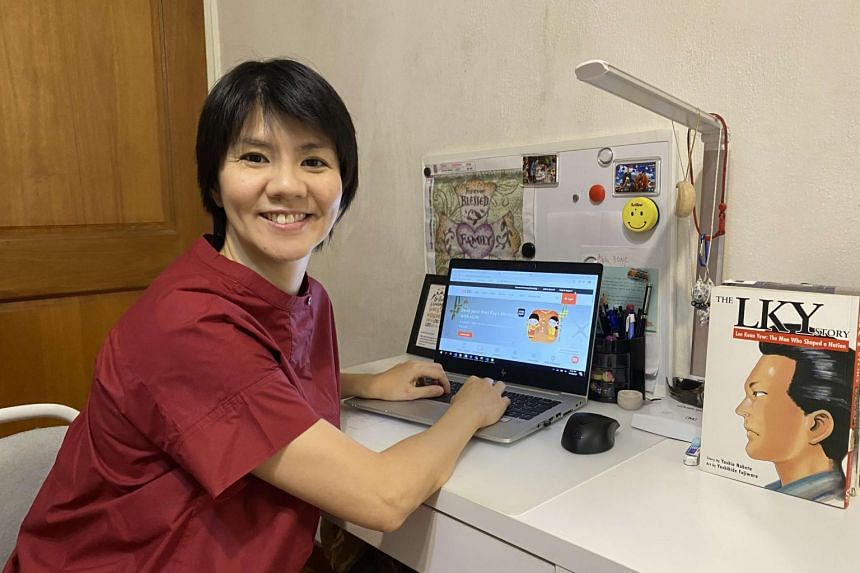 Former system analyst Dawn Lum, who spent 14 years in the telecommunications industry, is now a trainee at DBS.