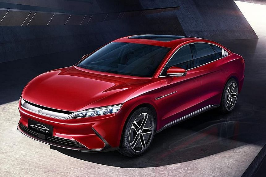 BYD flagship electric car can clock 3.9-second century sprint.