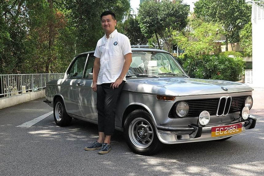 Product designer Louis Soon Zhiwei drives his 1973 BMW 2002 twice a month.