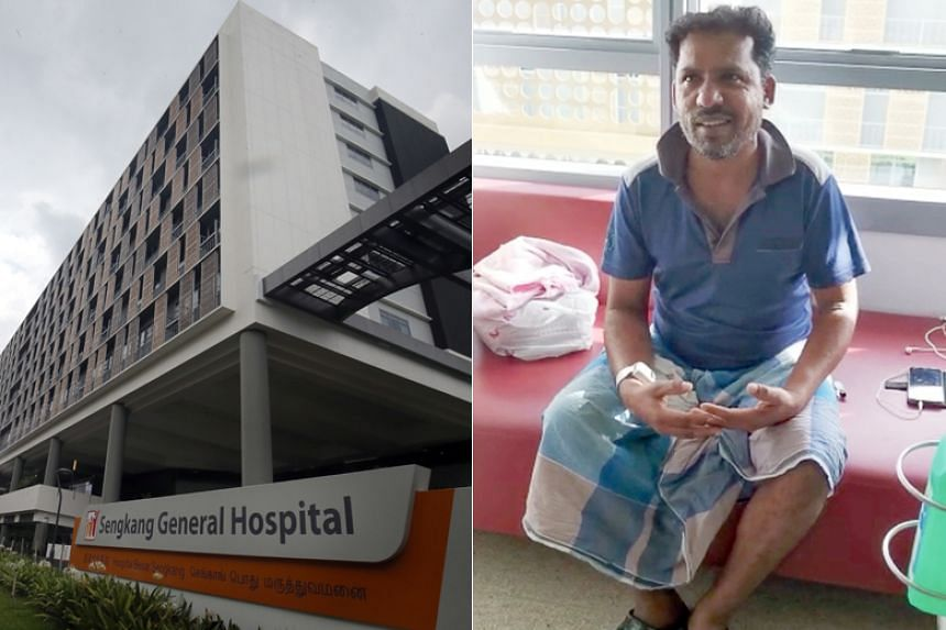 Mr Vellaichamy Periyakaruppan helped build the very room at Sengkang General Hospital where he was going to be warded.