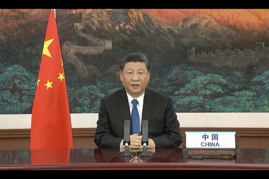 Chinese President Xi Jinping was one of the heads of state to address the virtual assembly.