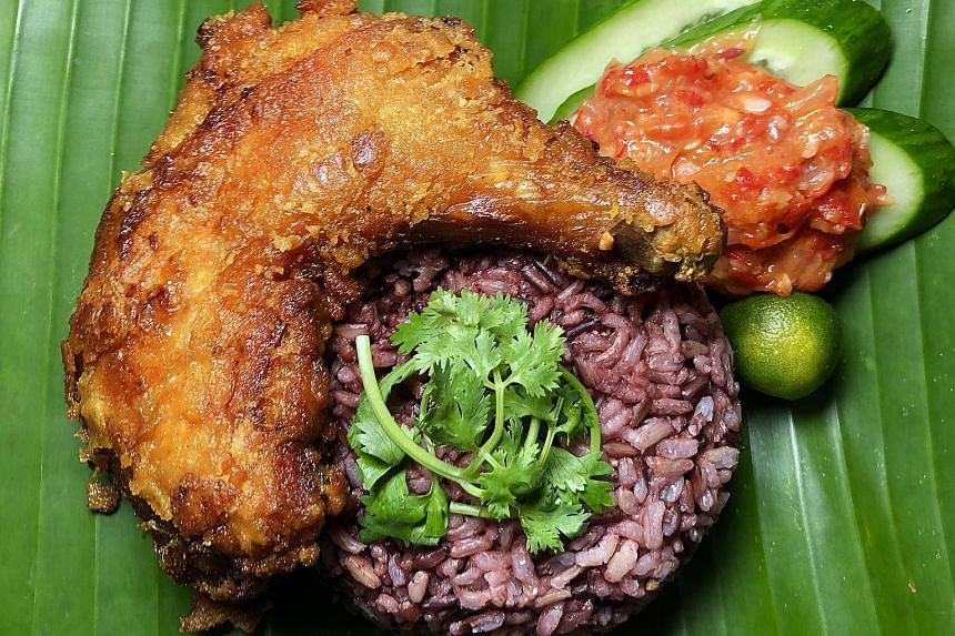 Serve up ayam penyet with housemade sambal.