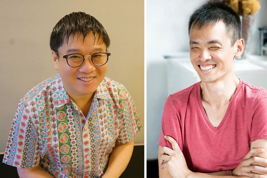 The Good Day I Died by Desmond Kon Zhicheng-Mingde (left) is interspersed with extracts from his other writings, which he feels his near-death experience influenced, while Cyril Wong (right) writes about the dead wandering a purgatorial garden in Thi