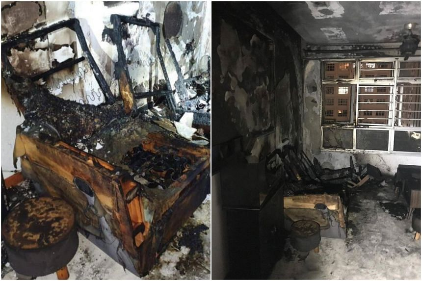 The fire involved the contents of the seventh floor unit's living room.