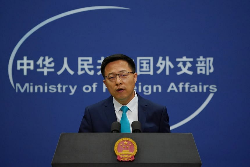 """China's Foreign Ministry spokesman Zhao Lijian said """"solemn representations"""" had been lodged with the US."""