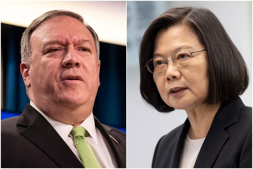 US Secretary of State Mike Pompeo congratulated Taiwan's President Tsai Ing-wen ahead of her inauguration to a second term.