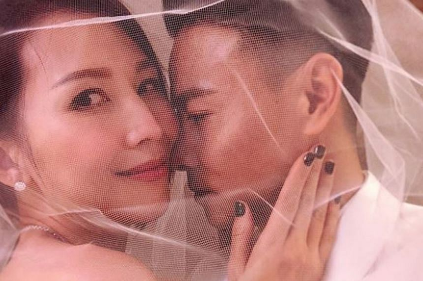 Hong Kong actress Ada Choi (above left, in 2018 celebrating her 10th wedding anniversary with her husband, Chinese actor Max Zhang) has rarely appeared in public since she gave birth to her third child last November.
