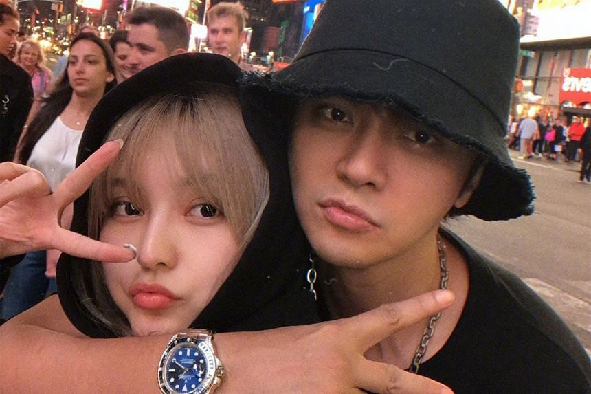 A photo of pop star Show Lo and his ex-girlfriend Grace Chow that accompanied his post apologising to her again.