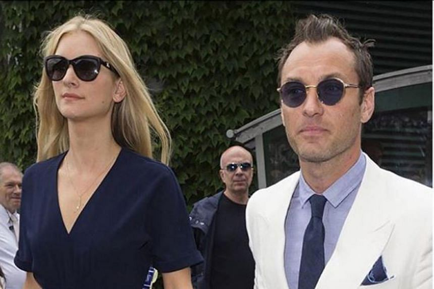 Jude Law (right) is married to psychologist Phillipa Coan.