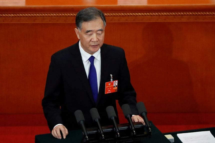 Ruling Communist Party's fourth-ranked leader Wang Yang at the Great Hall of the People in Beijing, on May 21, 2020.