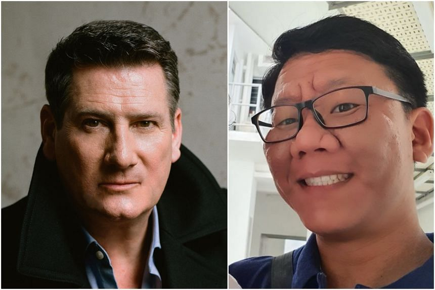Mr Muhammad Shalehan (right) had enlisted the help of English singer-songwriter Tony Hadley to prove to the station that he had pronounced the name correctly.