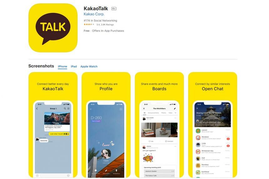 Kakao reported revenue of 868 billion won for the first quarter, with more than half coming from platforms including the messaging app and web portal.
