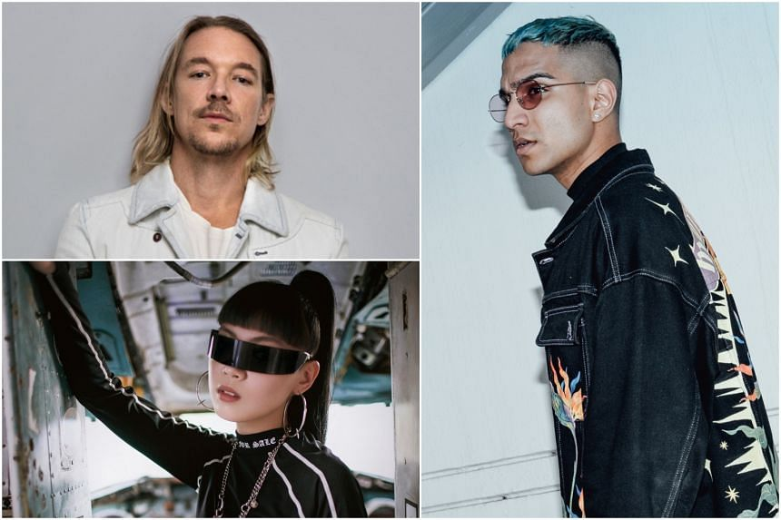 (Clockwise from top left) Diplo, Yung Raja and Jasmine Sokko.