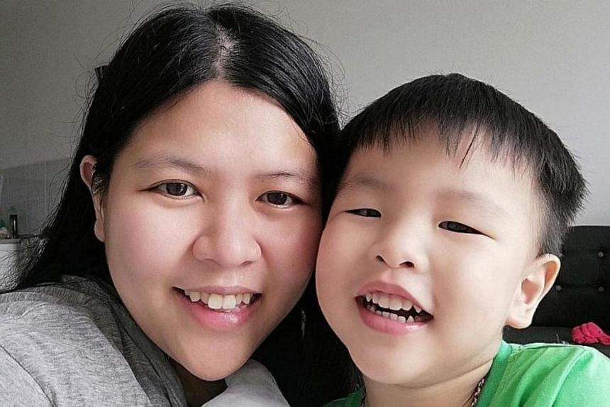 Childcare teacher Jessie New and her son Jackson returned to Johor in April, but her husband remains as he risks losing his job if he leaves.