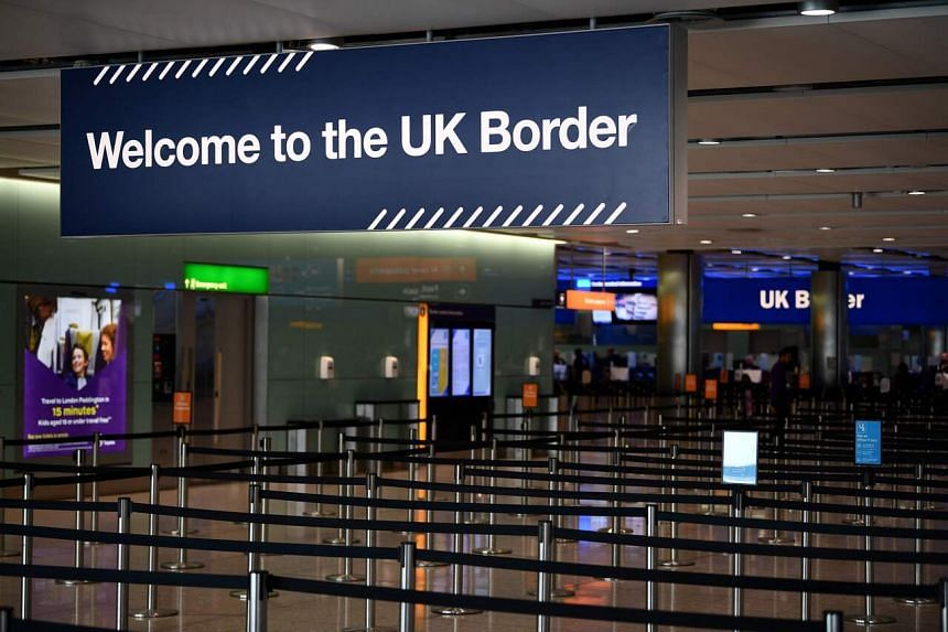 Visitors to Britain would need to make arrangements for where they can quarantine for 14 days.
