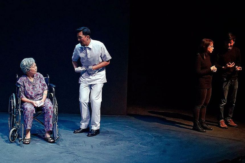 A scene from Wild Rice's 2017 production of Grandmother Tongue (above). The company had been planning to restage the play in August this year.