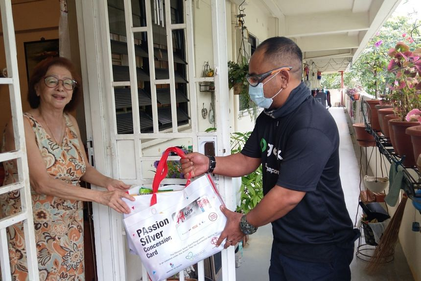 People's Association partnered with Gojek Singapore to arrange for care packs to be delivered.