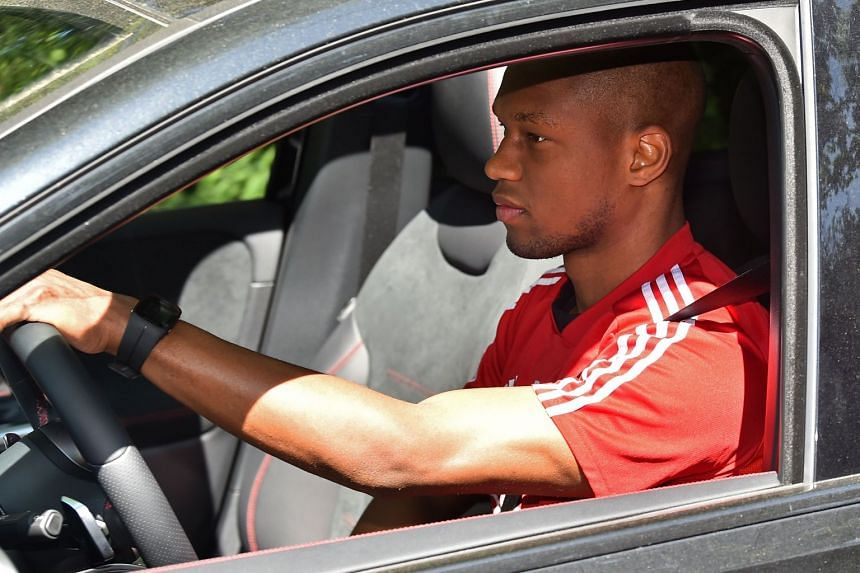 Kabasele arrives at Watford's training facility in north London on May 20, 2020.