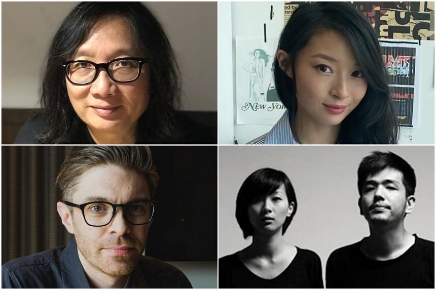 (Clockwise, from top left) Designer Theseus Chan, fashion designer Nicolette Yip, Anonymous founders Germaine Chong and Felix Ng, and designer Jason Schlabach.