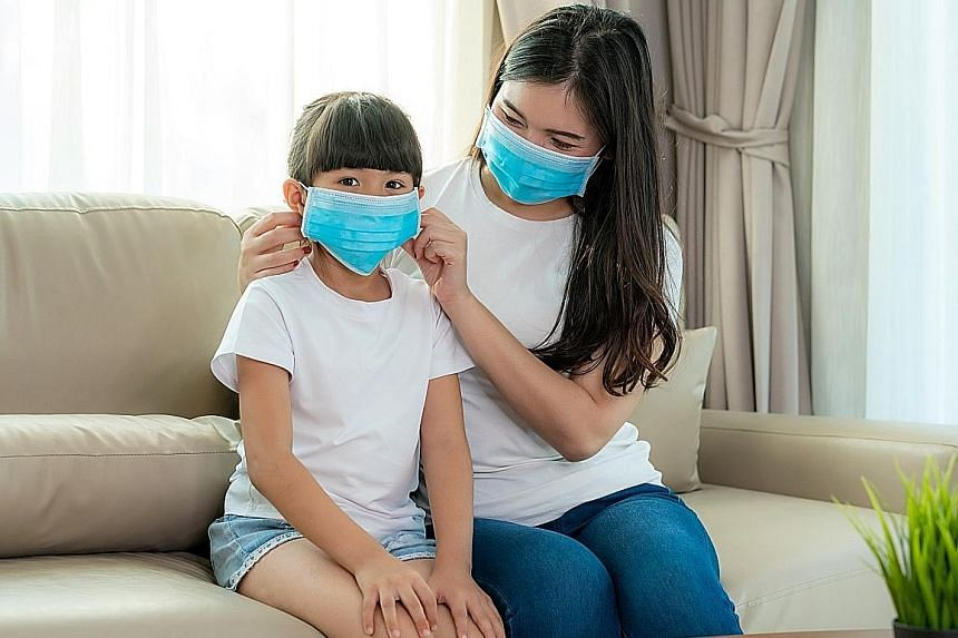 Parents can prepare their children for the new school term after the circuit breaker lifts by talking about the practices they must observe, such as social distancing in the canteen during recess time, and steps to putting on a face mask or shield.